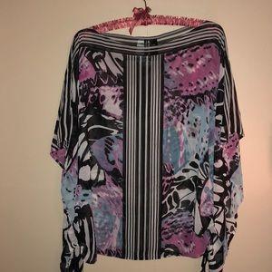Bisou Bisou Sheer Polyester Blouse XL